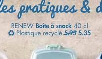 RENEW Boite a snack offre à 5,35€