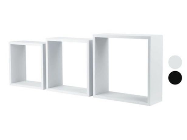 LIVARNO LIVING® Étagères cubes, set de 3 offre à 12,99€