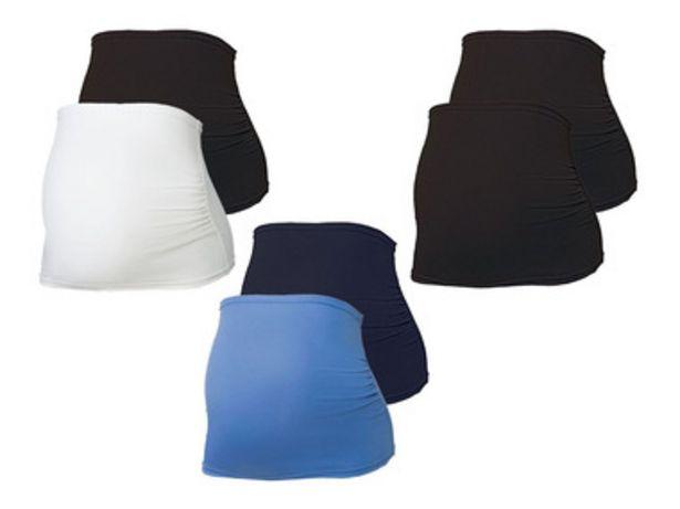 ESMARA® Set de 2 bandeaux de grossesse en un mélange de coton bio offre à 5,99€