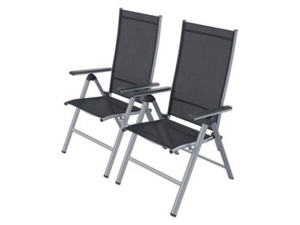 FLORABEST® Set de 2 chaises de jardin en aluminium, pliable offre à 94,99€