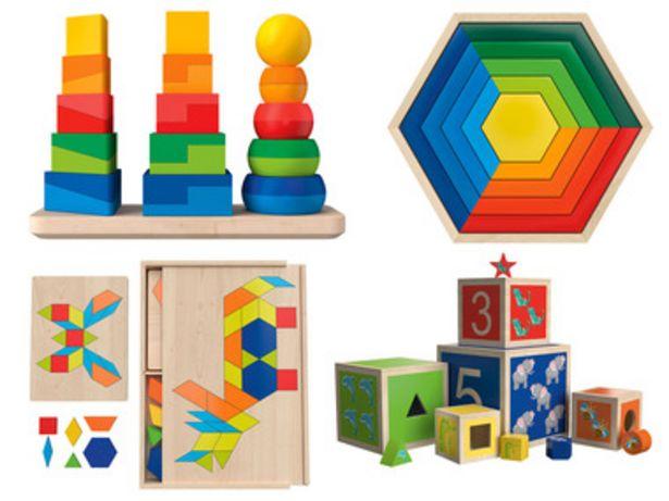 PLAYTIVE® Jouets éducatifs en bois, motricité fine offre à 8,99€