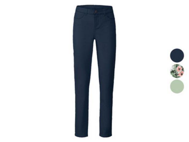 ESMARA® Pantalon étroit à taille haute en un mélange de coton offre à 11,99€