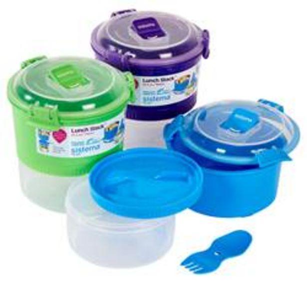 TO GO Lunchbox met verdeling 3 kleuren groen, blauw, paars offre à 7,35€