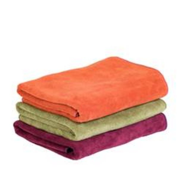 VOYAGE Handdoek rood, oranje, groen B 50 x L 100 cm offre à 1,34€