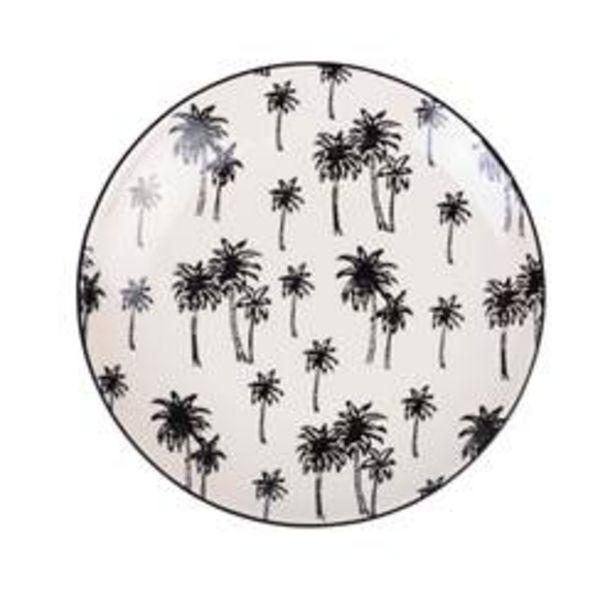 BLACK PALM Dessertbord zwart L 20 cm offre à 1,6€