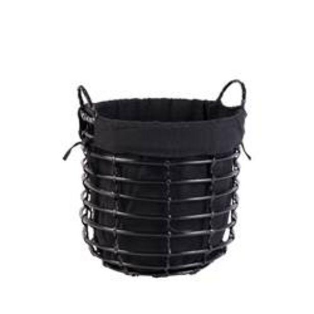 BLACK STYLE Mand zwart H 35 cm; Ø 36 cm offre à 5,39€