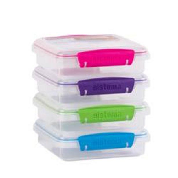 TO GO Lunchbox 4 kleuren groen, blauw, paars, roze H 4,5 x B 15 x D 15 cm offre à 2,79€