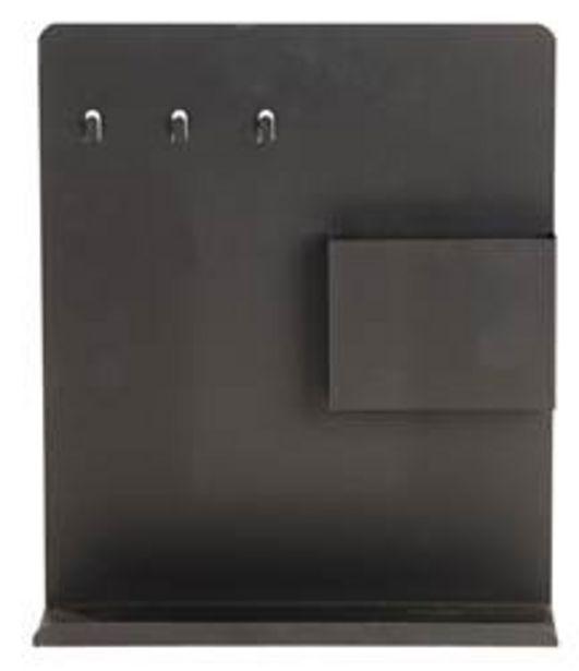TABLETTE Sleutelrek magnetisch zwart H 35 x B 30 x D 8 cm offre à 5€