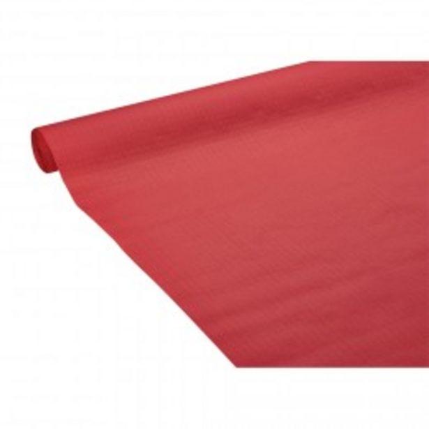 Nappe en papier gaufré uni rouge 25 m  offre à 4,49€