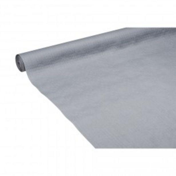Nappe en papier gaufré uni gris 25 m  offre à 3,45€