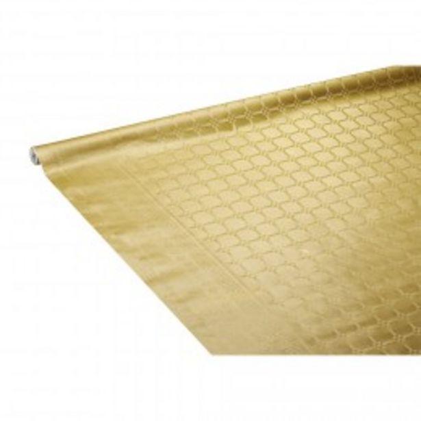 Nappe dorée en papier  offre à 3,45€