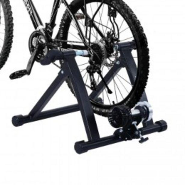 Home Trainer vélo support d'entrainement pliable pour vélo de route VTT acier noir  offre à 64,9€