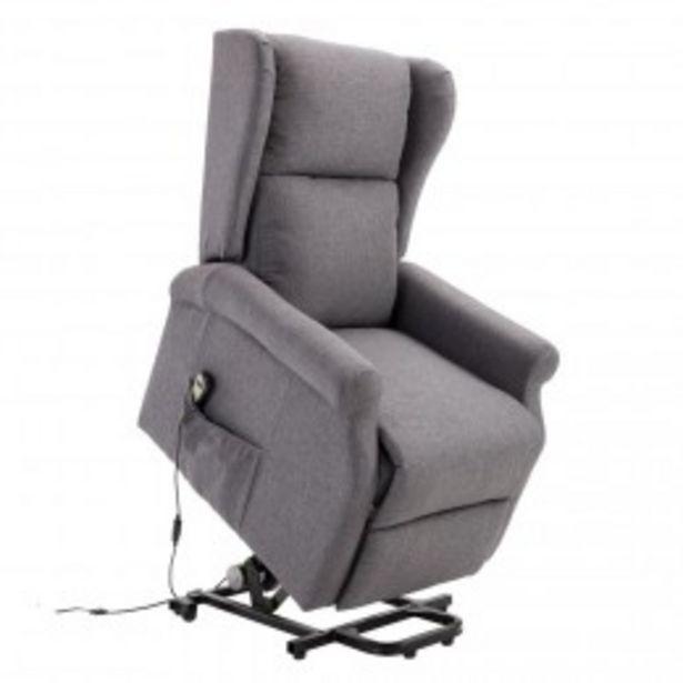 Fauteuil de relaxation électrique fauteuil releveur inclinable avec repose-pied ajustable lin gris chiné  offre à 461,9€