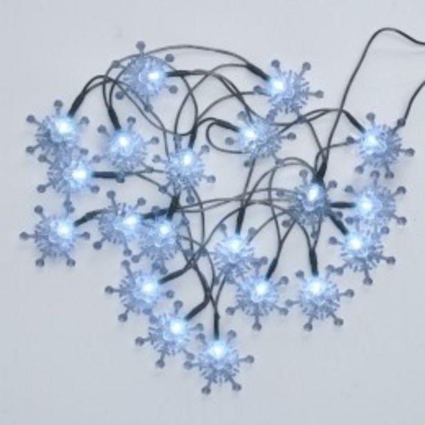 Guirlande lumineuse flocons de neige 20 LED  offre à 7,99€