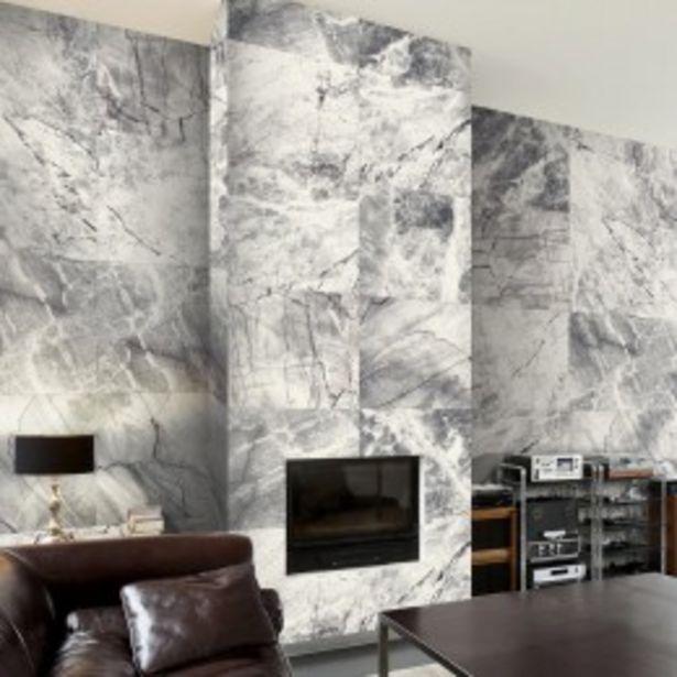 Papier peint Carrés de marbre gris  offre à 31,99€