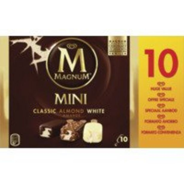 Magnum Mini classic almond white ijs offre à 4,99€
