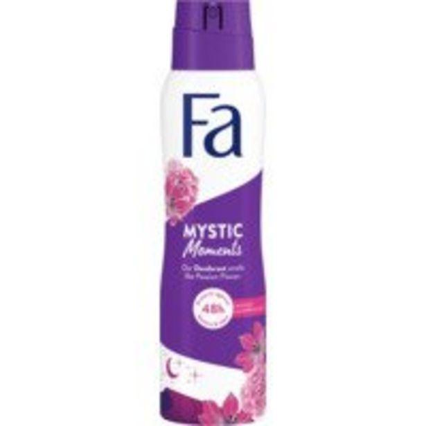 Fa Mystic moments deodorant offre à 2,89€