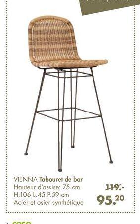 VIENNA Tabouret de bar offre à 95,2€