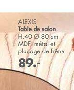 ALEXIS Table de salon offre à 89€