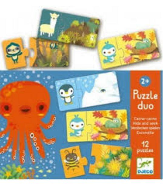 Puzzle duo cache-cache (Puzzles Duo-Trio Djeco) offre à 8,5€