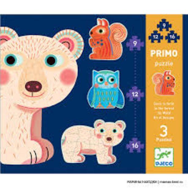Puzzles Primo - Dans la forêt (Puzzles Évolutifs Djeco) offre à 11€