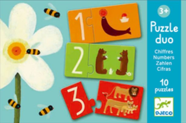 Puzzle duo chiffres (Puzzles Duo-Trio Djeco) offre à 7,9€