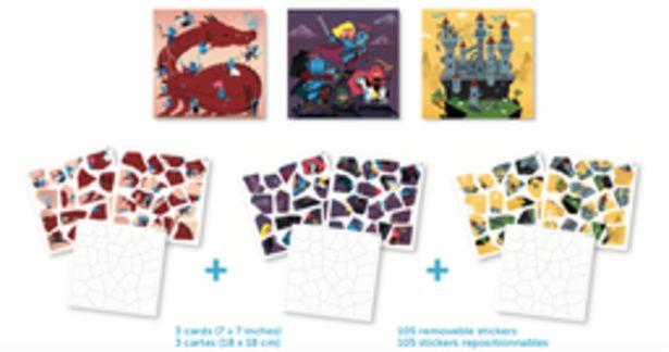 Puzzle d'autocollants Dragon & knights offre à 9,9€