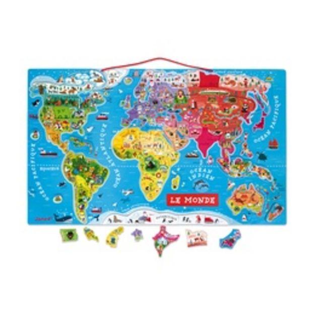 Puzzle Monde Magnetique Version Francaise Janod offre à 46,5€