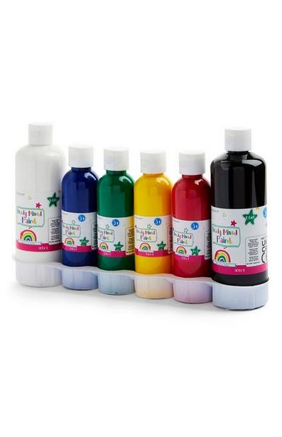 Lot de 6 pots de peinture de couleurs primaires offre à 5€
