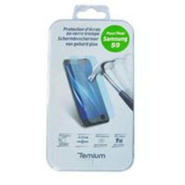Temium Gehard Glas Schermbeschermer voor Samsung Galaxy S9 offre à 18,95€